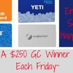 Win a gift card, chance to win, multiple prizes