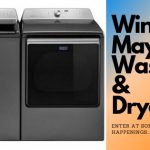Enter to win a Maytag washer and dryer ~ sweepstakes ends 6-1