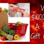 win a grocery gift card, win money, cash sweepstakes