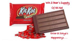Kit Kat, years supply of chocolate, enter to win