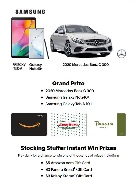Win a car, win a gift card, sweepstakes bucket list