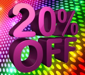 20% off, discount, sale