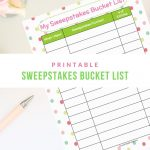 sweepstakes bucket list, sweepstakes, bucket list