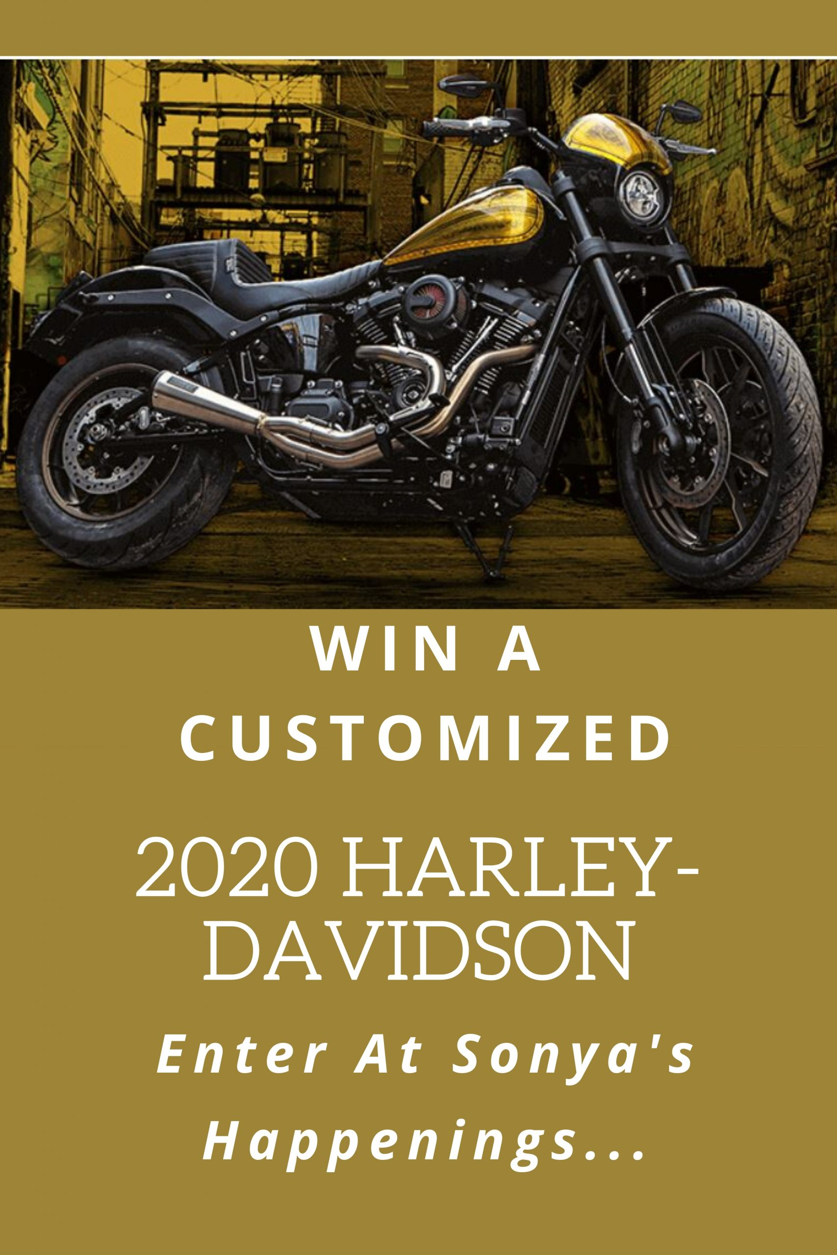 Enter to win a customized Harley-Davidson Motorcycle~ sweeps ends 8-10