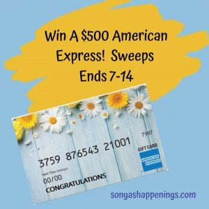 $500 American Express Gift Card, American Express gift card