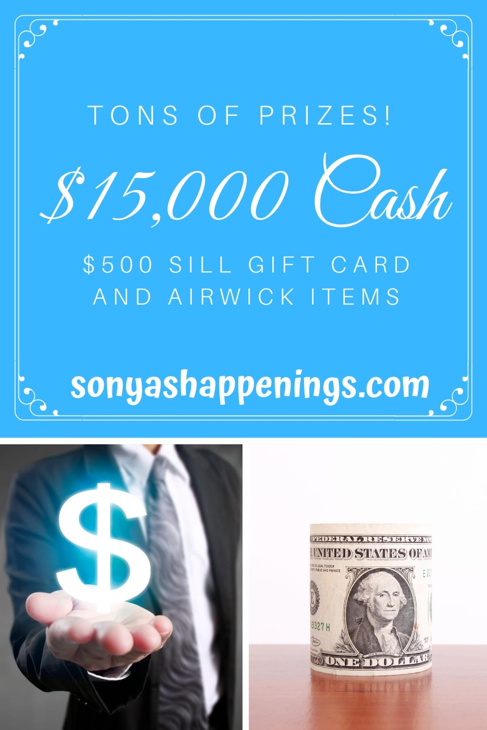 Win $15000 Cash, A GiftCard Or AirWick~ sweeps ends 8-5