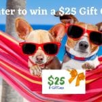 $25 gift card, Just because giveaway