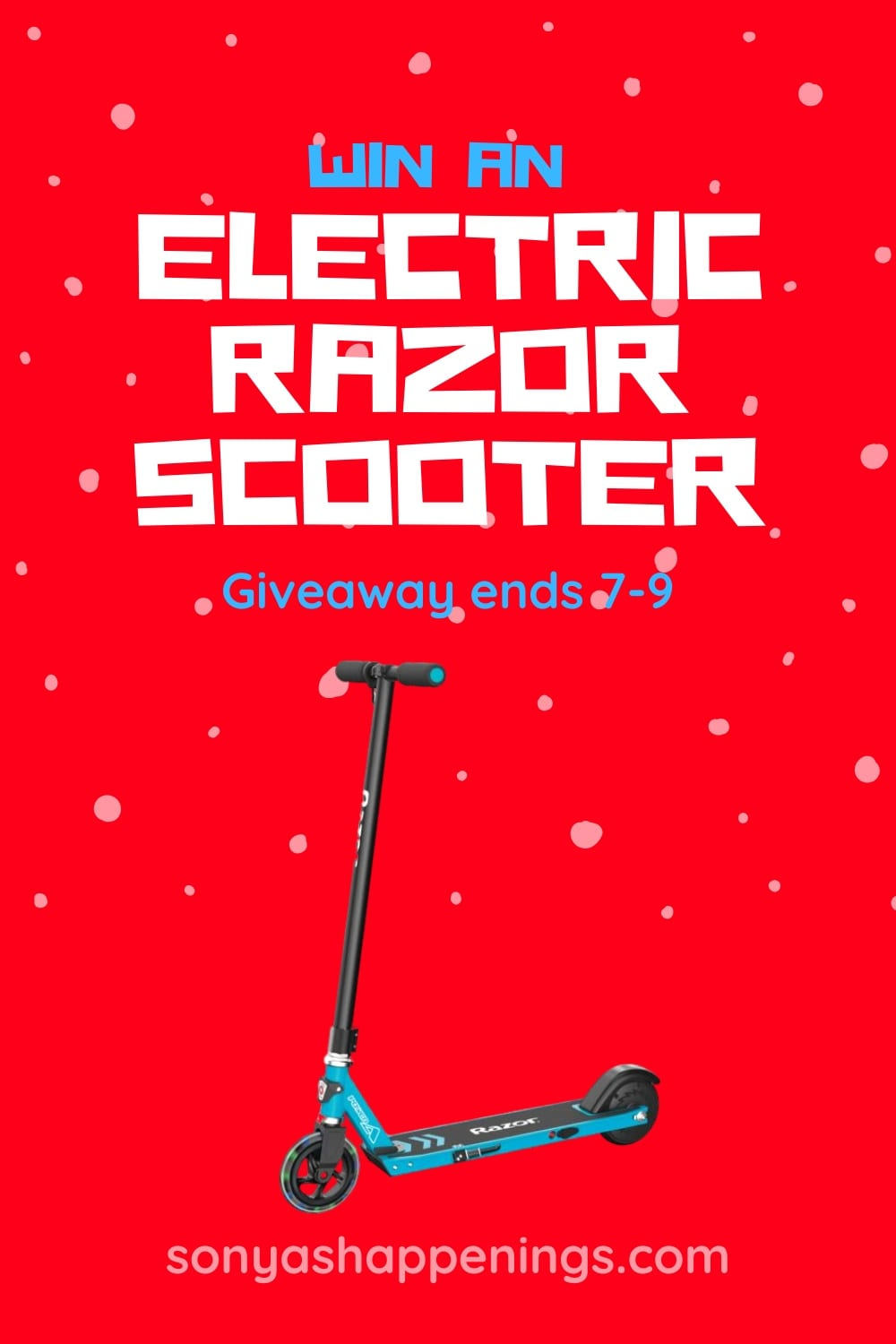 Win An Electric Razor Scooter~ giveaway ends 7-9