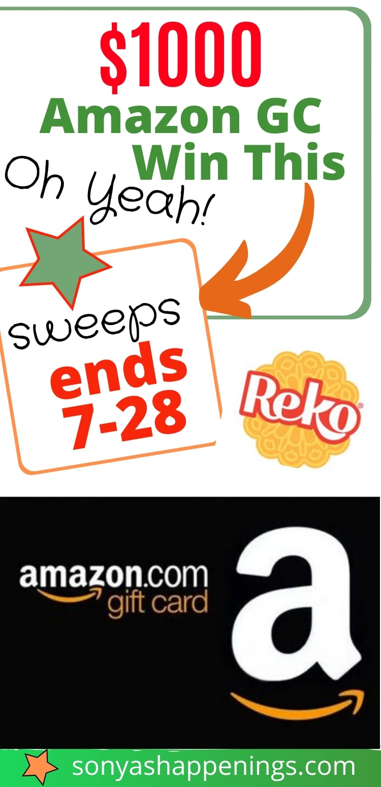 Win a $1000 Amazon giftcard~ sweeps ends 7-28