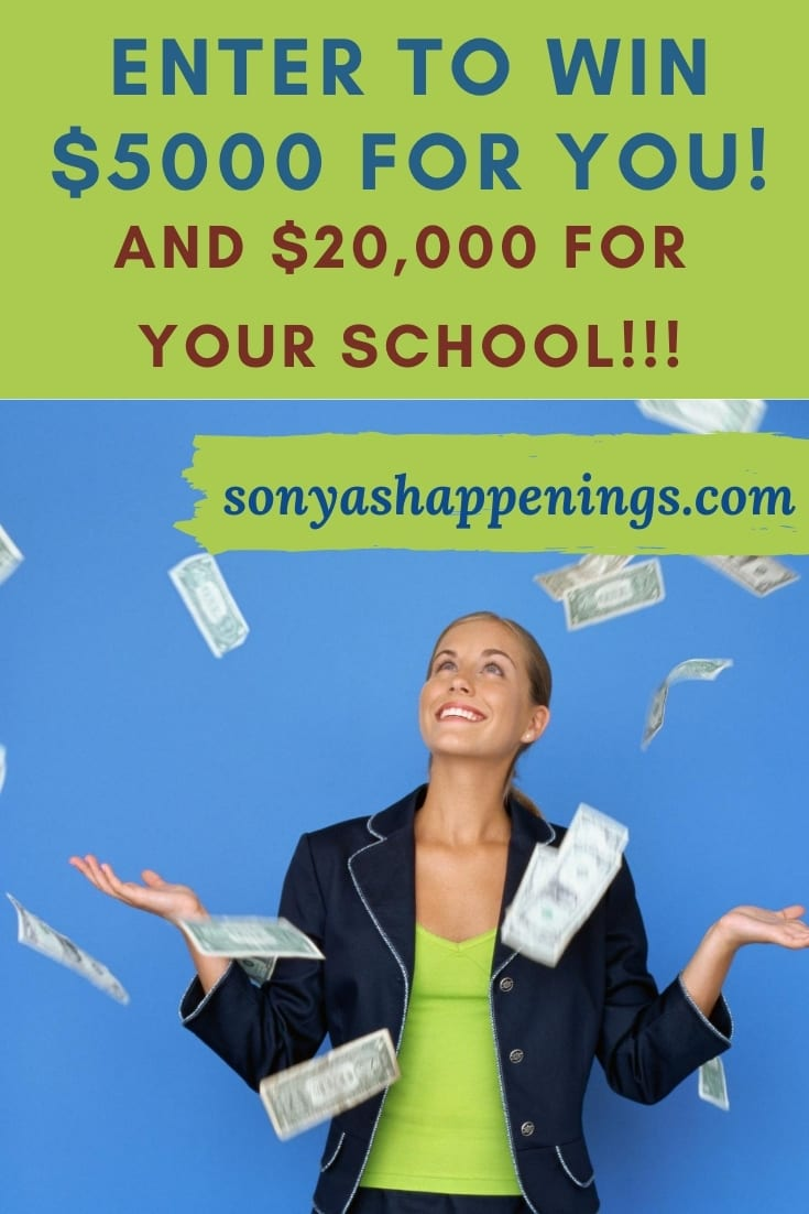 Win $5000 Cash for you and $20,000 for your school~ sweeps ends 9-20