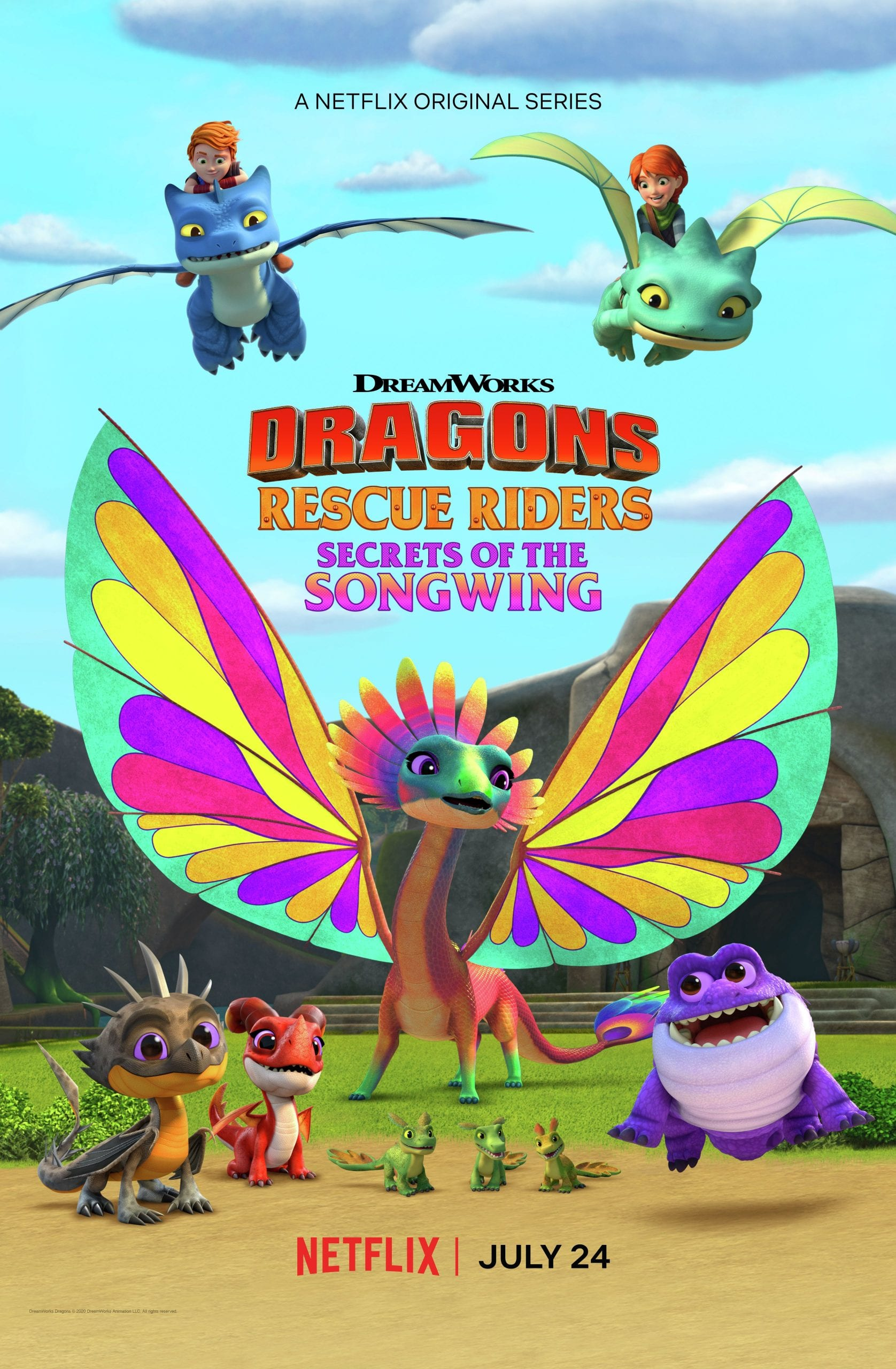 DreamWorks Dragons Rescue Riders: Secrets of the Songwing-New Trailer!!! #Netflix