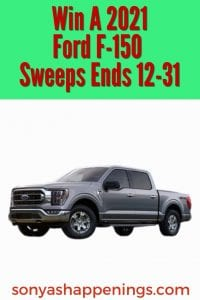 win a 2021 ford f-150, ford f-150