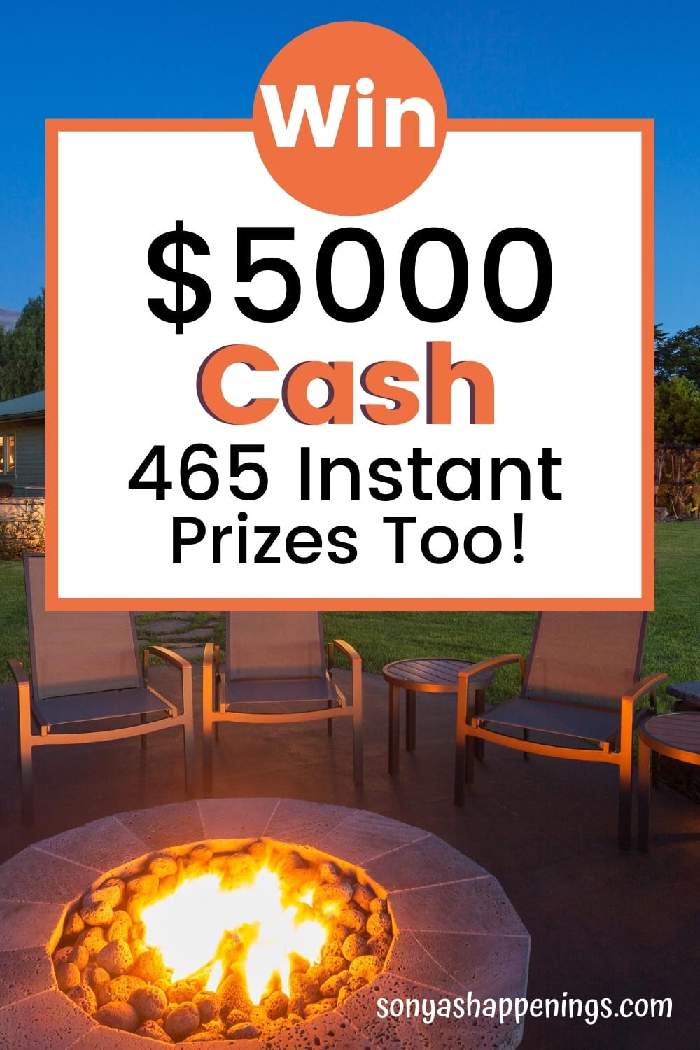 Win $5000 cash (instant prizes too)~ sweeps ends 8-30