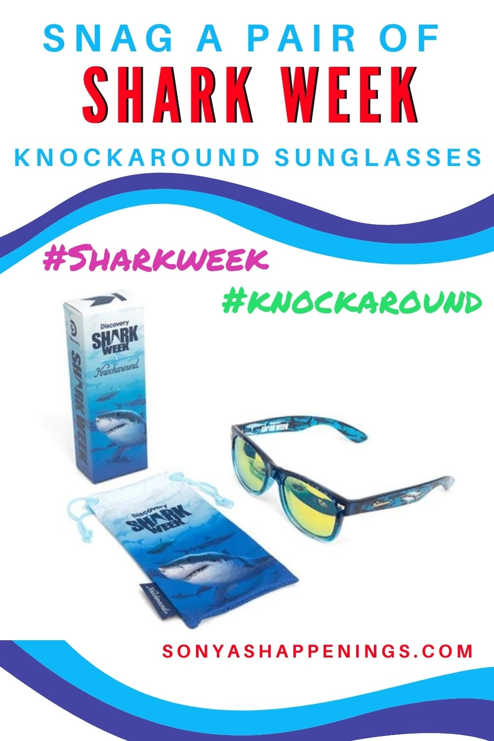 You Need These! Shark Week Knockaround Sunglasses~ (Shark Week Aug 9-16) Mine Are IN!