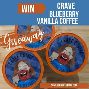 win crave blueberry vanilla coffee