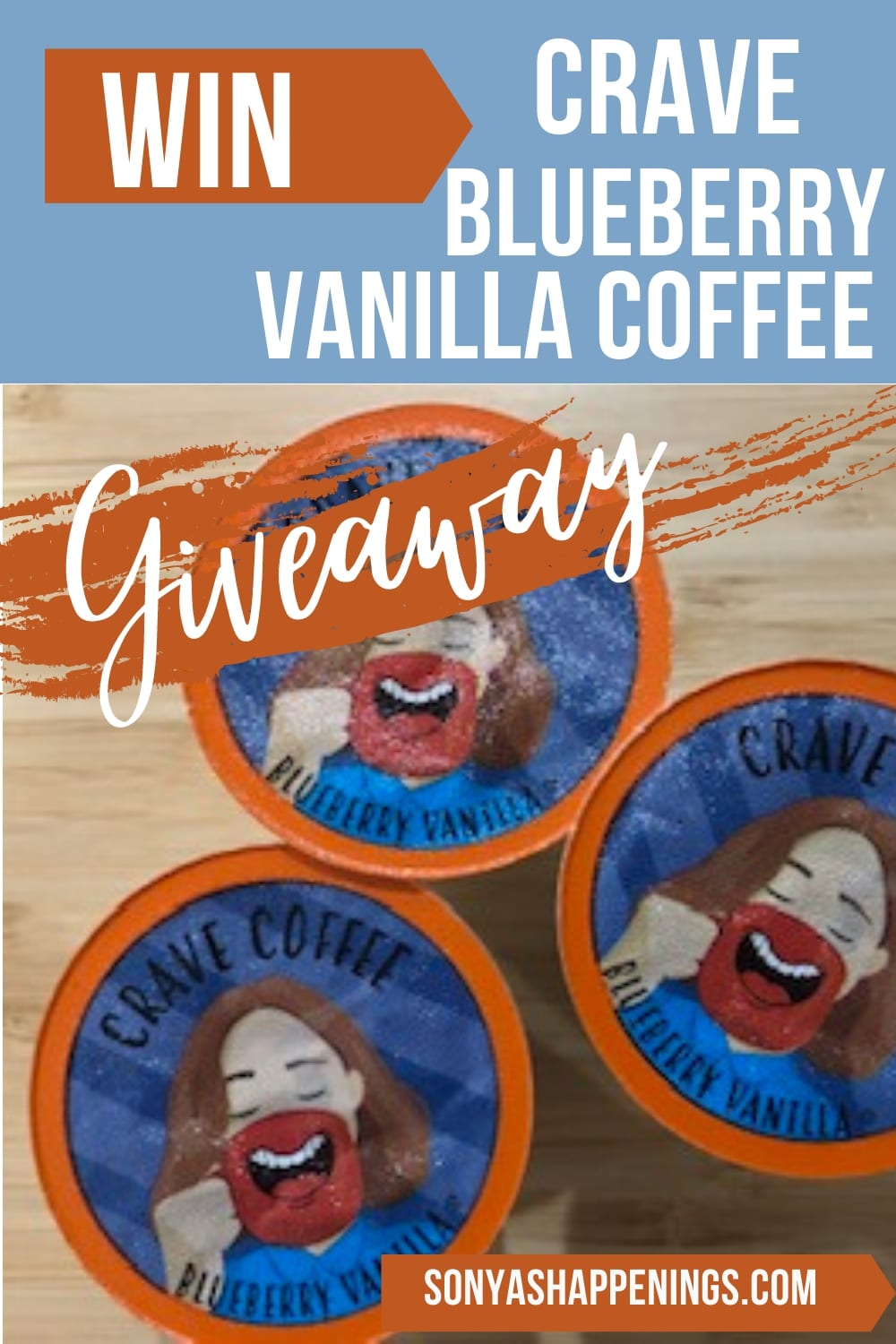 Win Crave Blueberry Vanilla Coffee~ giveaway ends 7-29