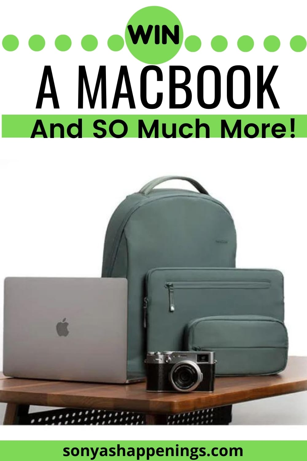 Win a Macbook and SO much more ($3600 ARV)~ Sweeps ends 8-9