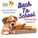 back to school hop, win a $25 giftcard