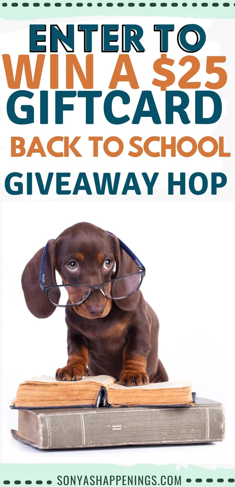 Win a $25 gift card in the back to school hop ~ giveaway ends 8-31
