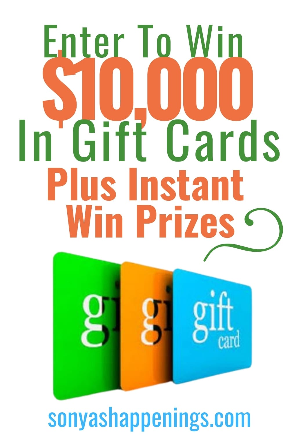 Win $10000 in giftcards plus a daily instant win game~ #sweeps ends 12-1