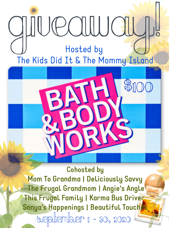 Win a $100 Bath & Body Works gift card ~ giveaway ends 9-30