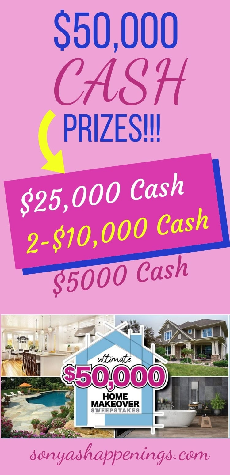 $50000 in cash prizes ~ sweeps ends 10-17
