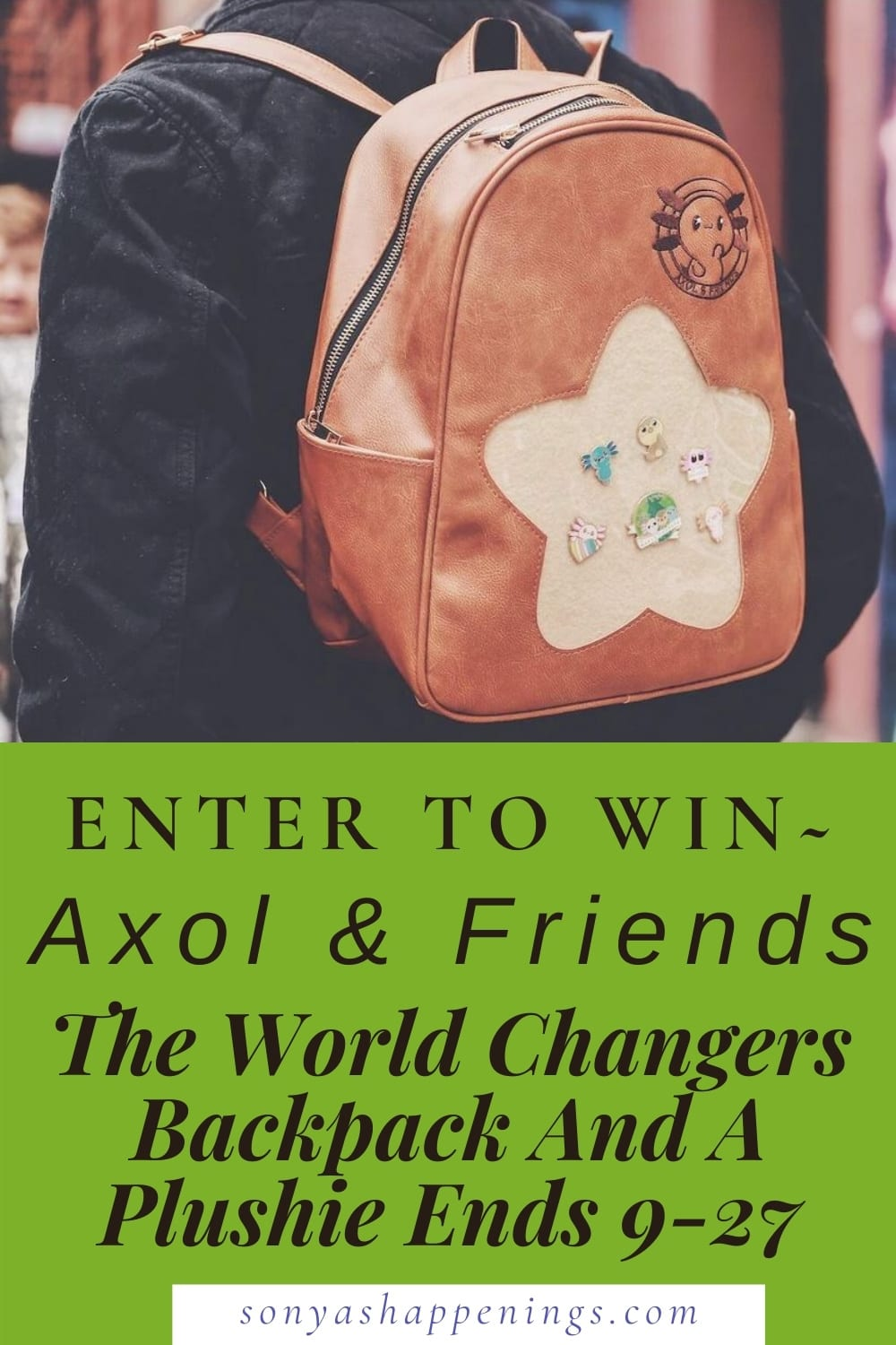 Axol & Friend\'s The World Changer Backpack- I LOVE it and you NEED it! Giveaway Too! Ends 9-27