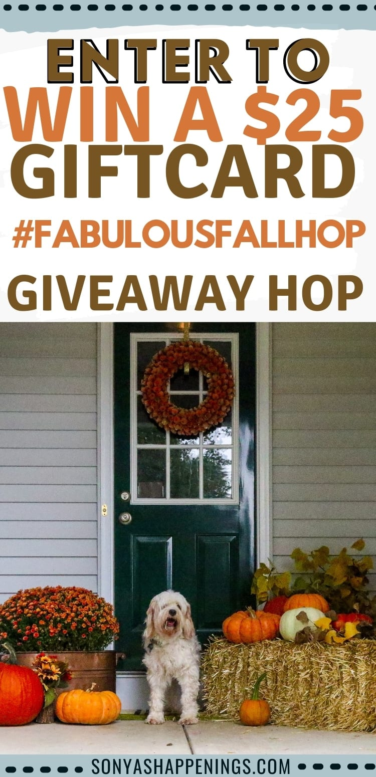 $25 Fabulous fall giveaway hop (win a $25 gift card) ~ Ends 9-30