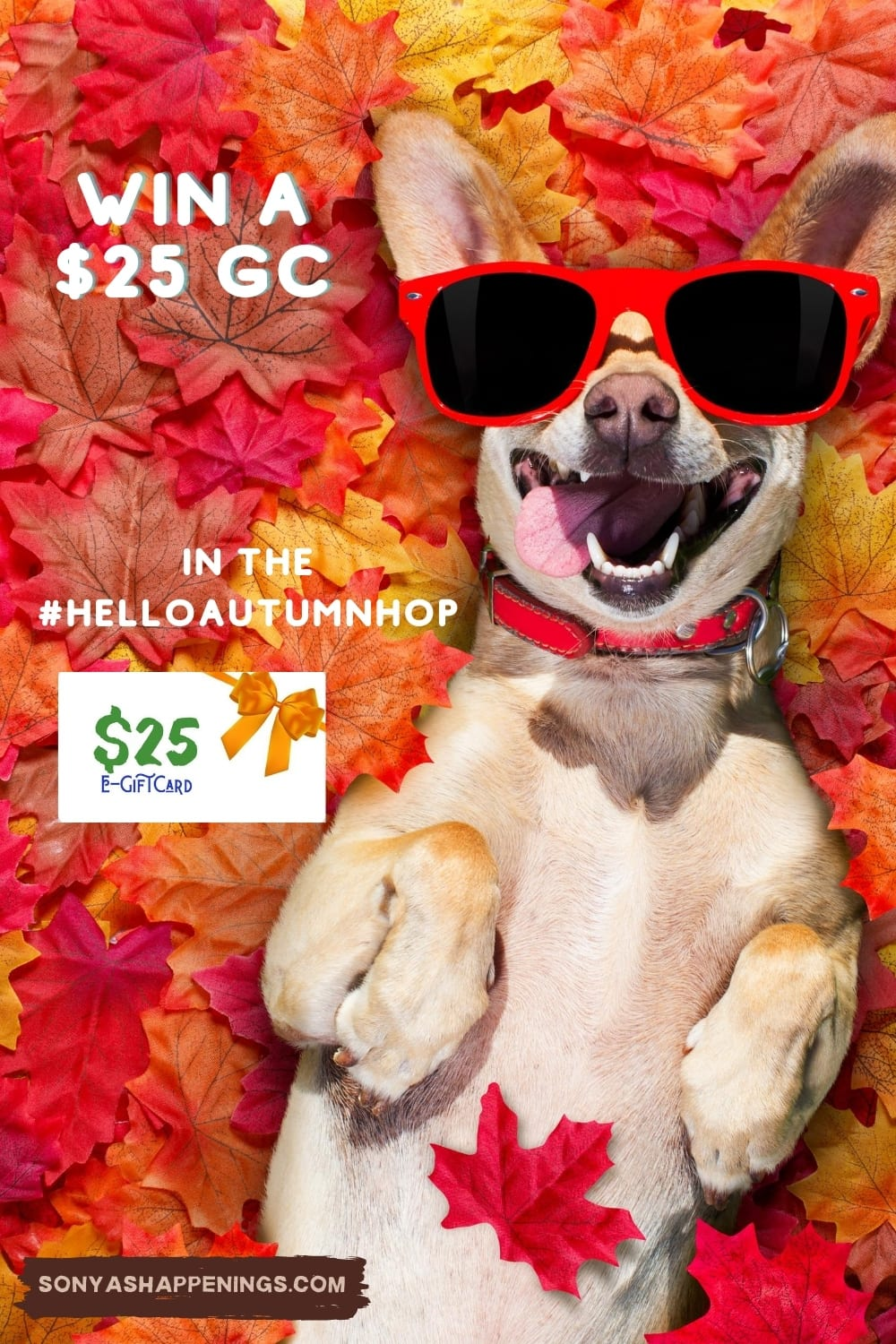Win a $25 gift card in the #HelloAutumnHop ~ giveaway ends 9-16