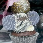 Jack Skellington Minnie Ears Cupcakes