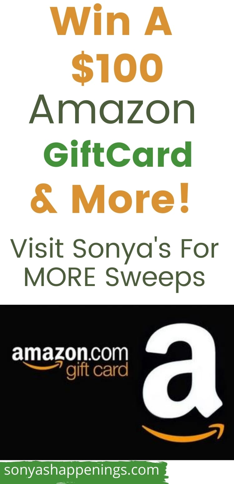 Win a $100 Amazon giftcard (and more) ~ sweeps ends 9-28