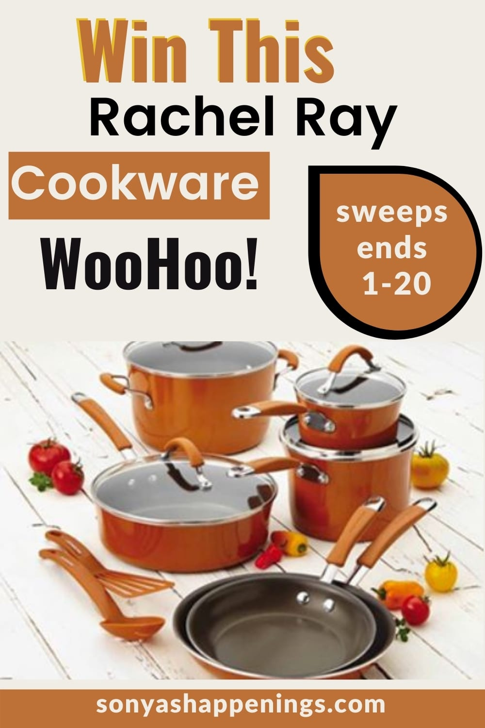 Win Rachael Ray Cookware ~ Sweeps Ends 1-20-21