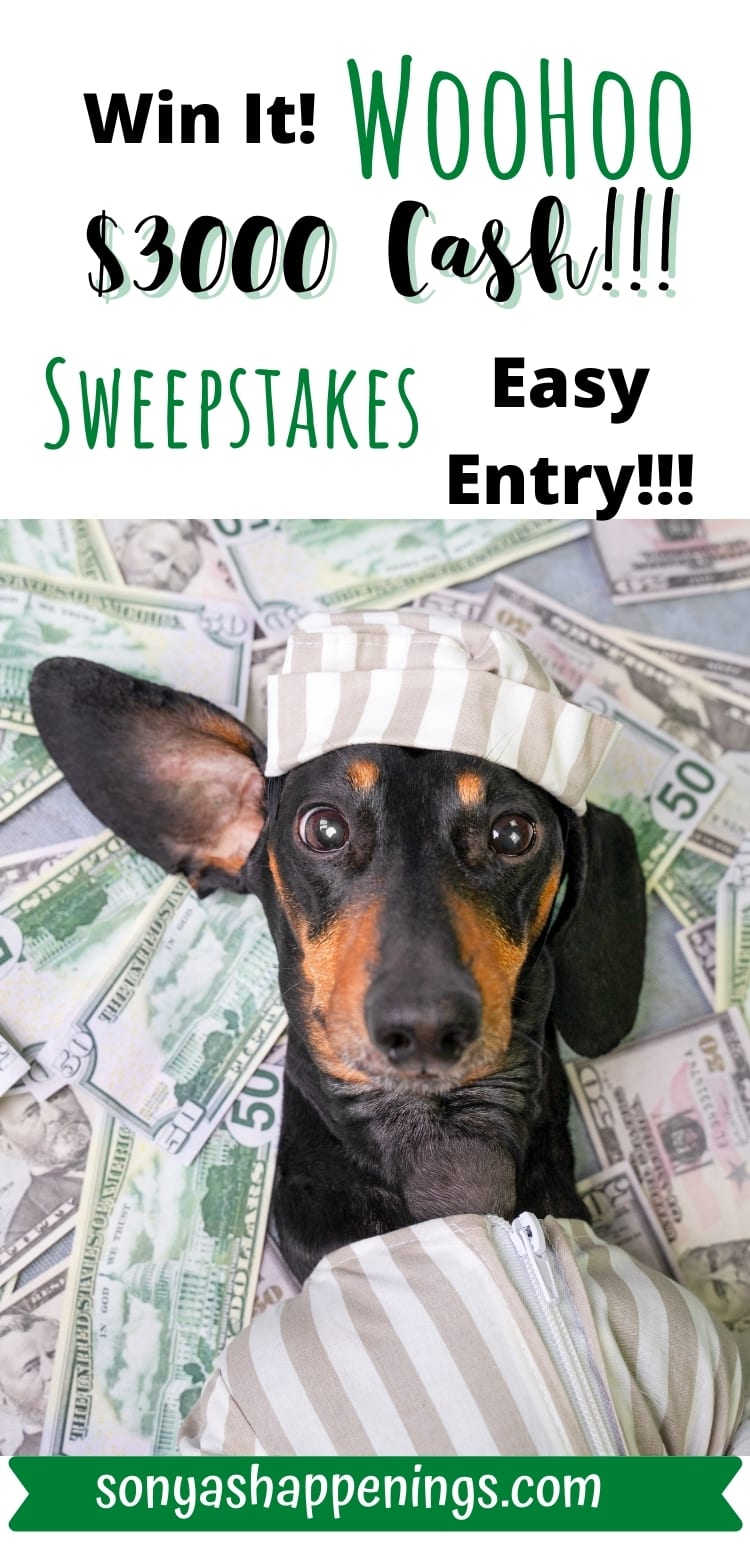 Win $3000 cash and a year\'s supply of dog treats ~ sweeps ends 11-24
