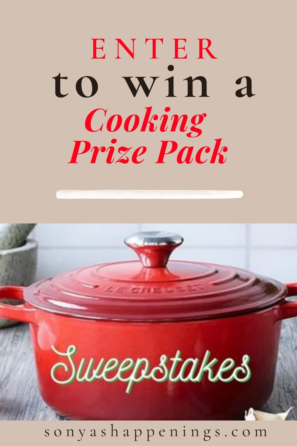 Win a $400 Cooking Prize Pack ~ sweeps ends 10-10