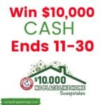 win $10,000 sweeps today