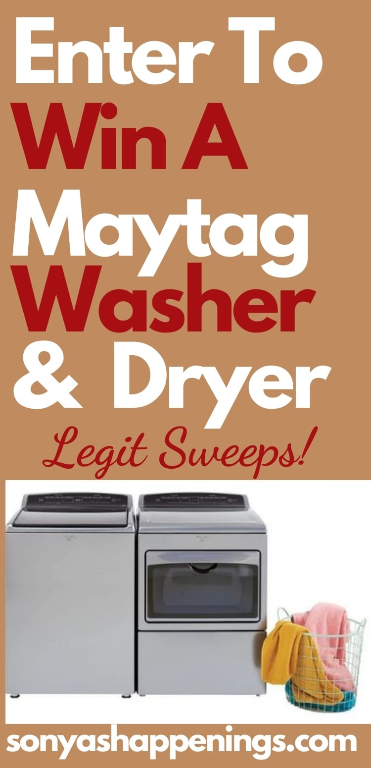 Win a Maytag washer and dryer set ~ sweeps ends 10-31