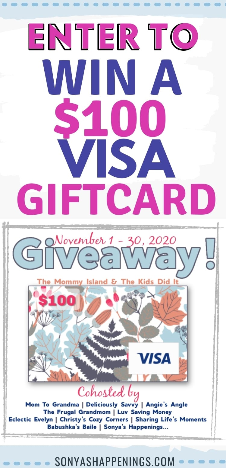 November $100 Visa giftcard giveaway~  ends 11-30