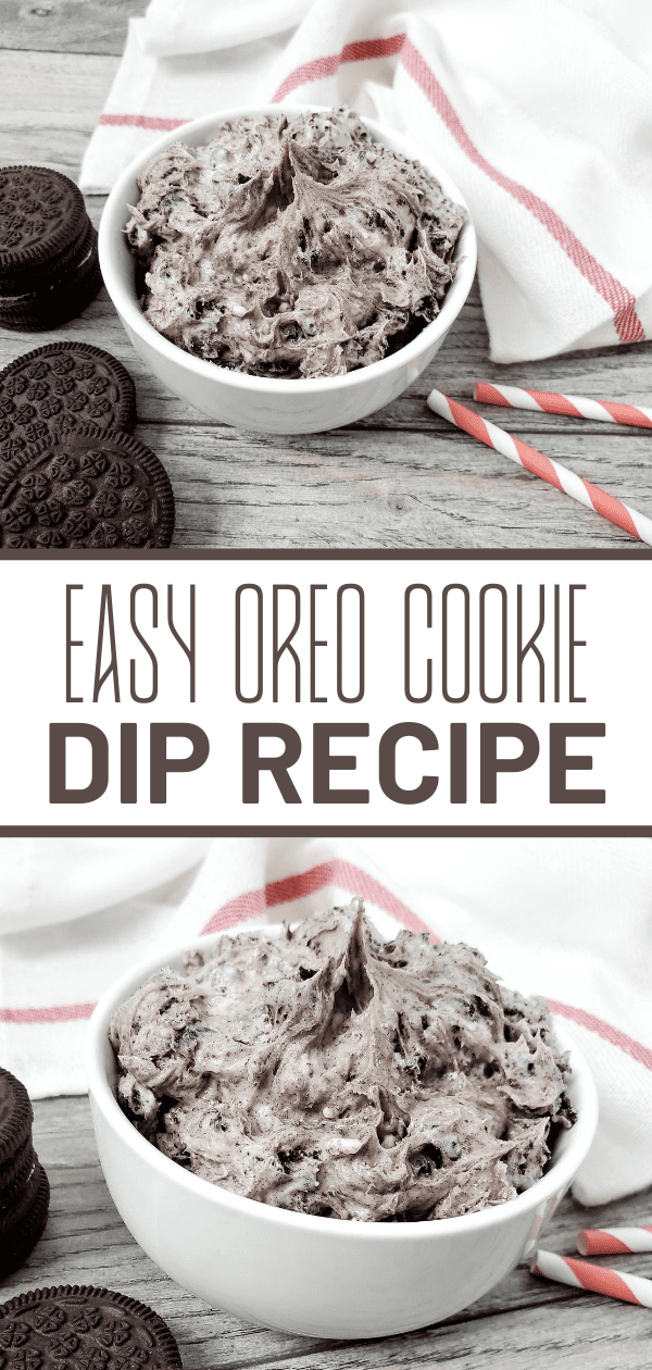 Simple Creamy Oreo Cookie Dip ~ 5 Ingredients