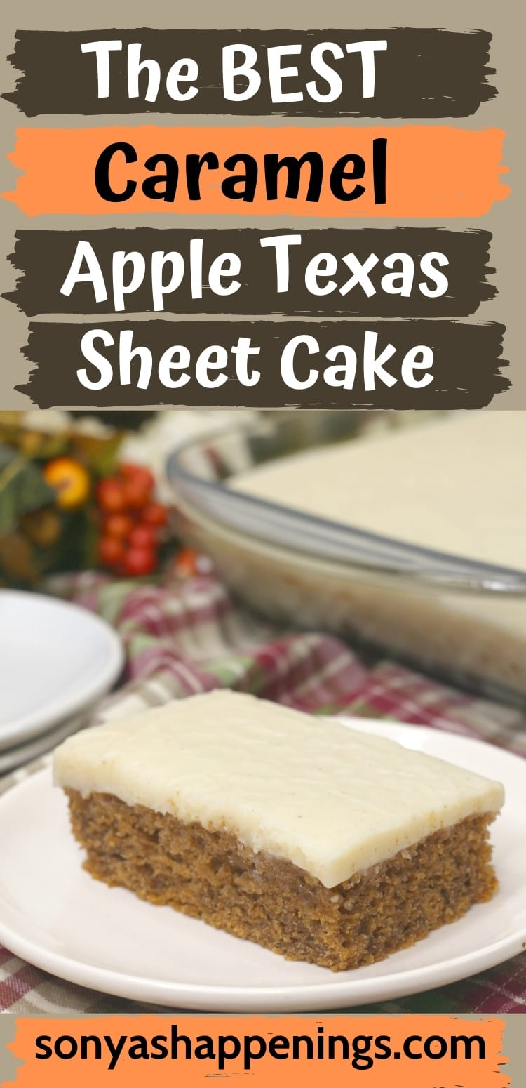 The BEST Caramel Apple Texas Sheet Cake Recipe
