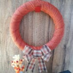 Dollar Tree Orange Plaid Wreath