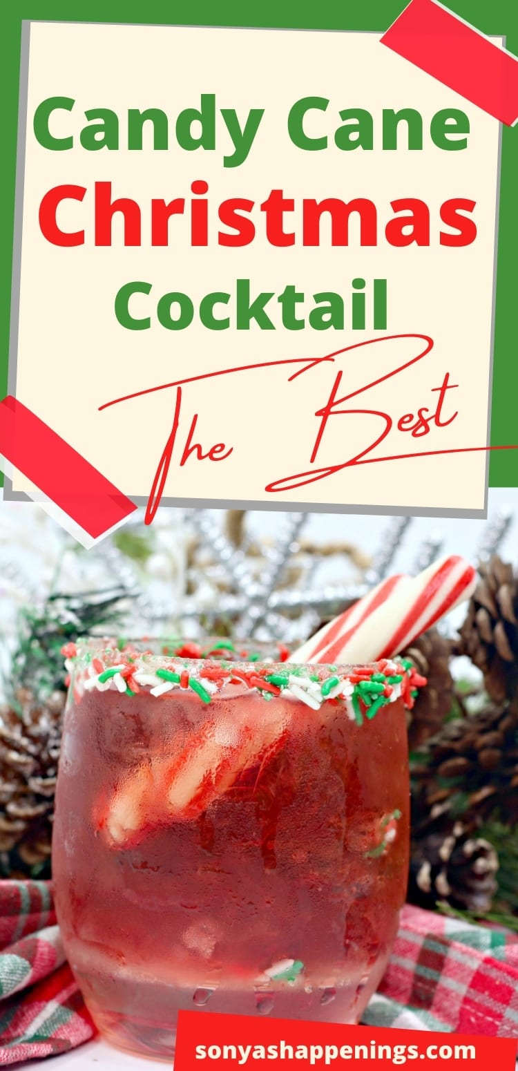 Candy Cane Christmas Cocktail