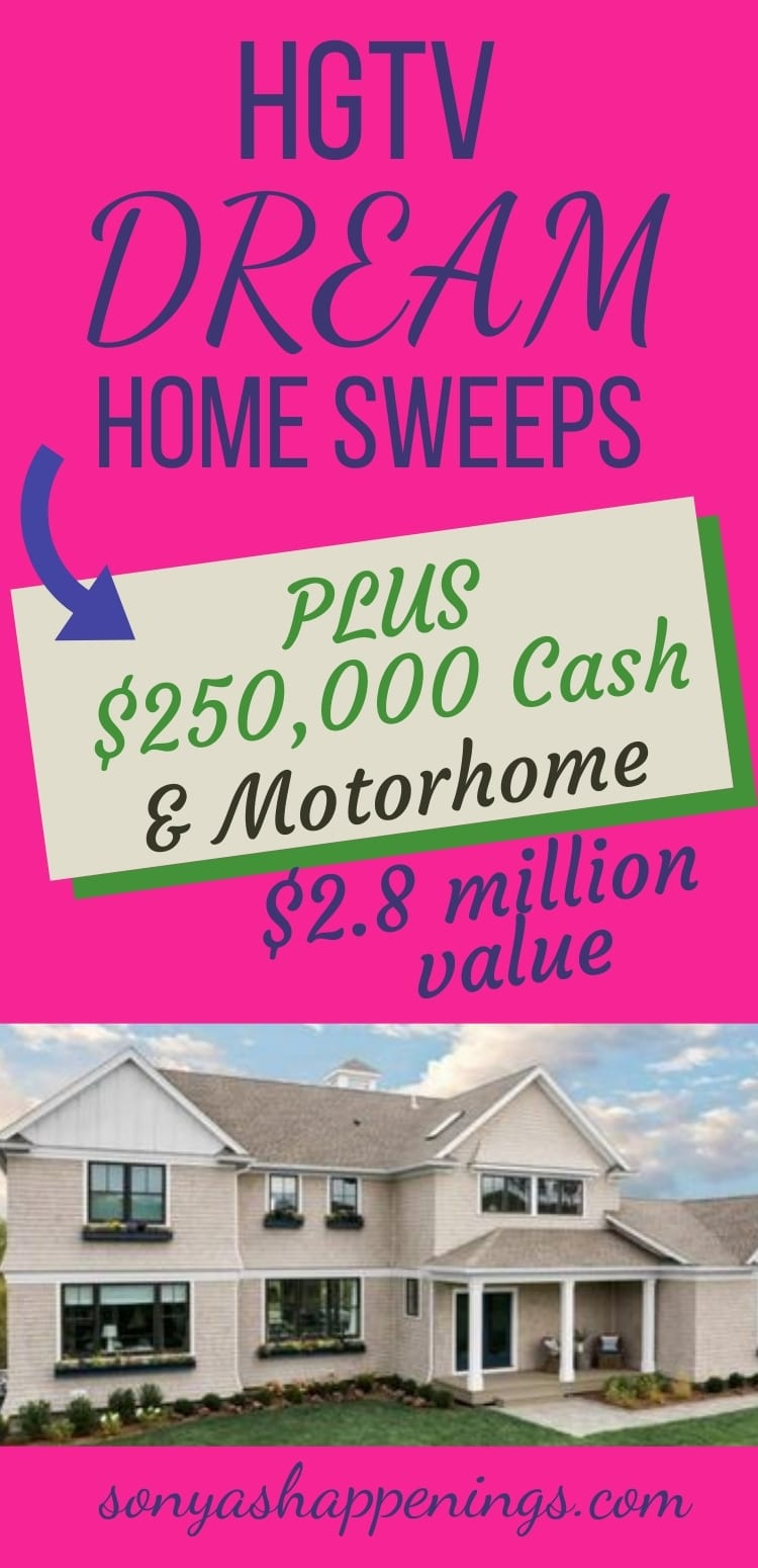 Win the HGTV Dream Home 2021 (and SO much more) ~ sweeps ends 2-17