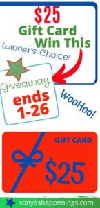 $25 gift card giveaway win