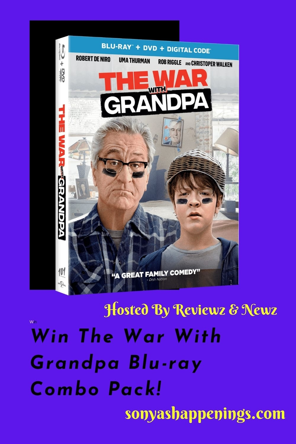 Win the War With Grandpa Blu-ray Combo Pack ~ Giveaway Ends 12-28