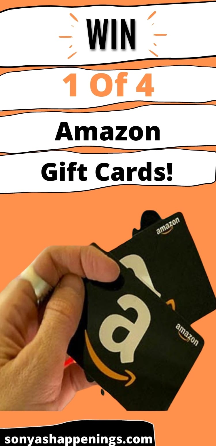 Win 1 of 4 $25 Amazon giftcards ~ sweeps ends 6-16