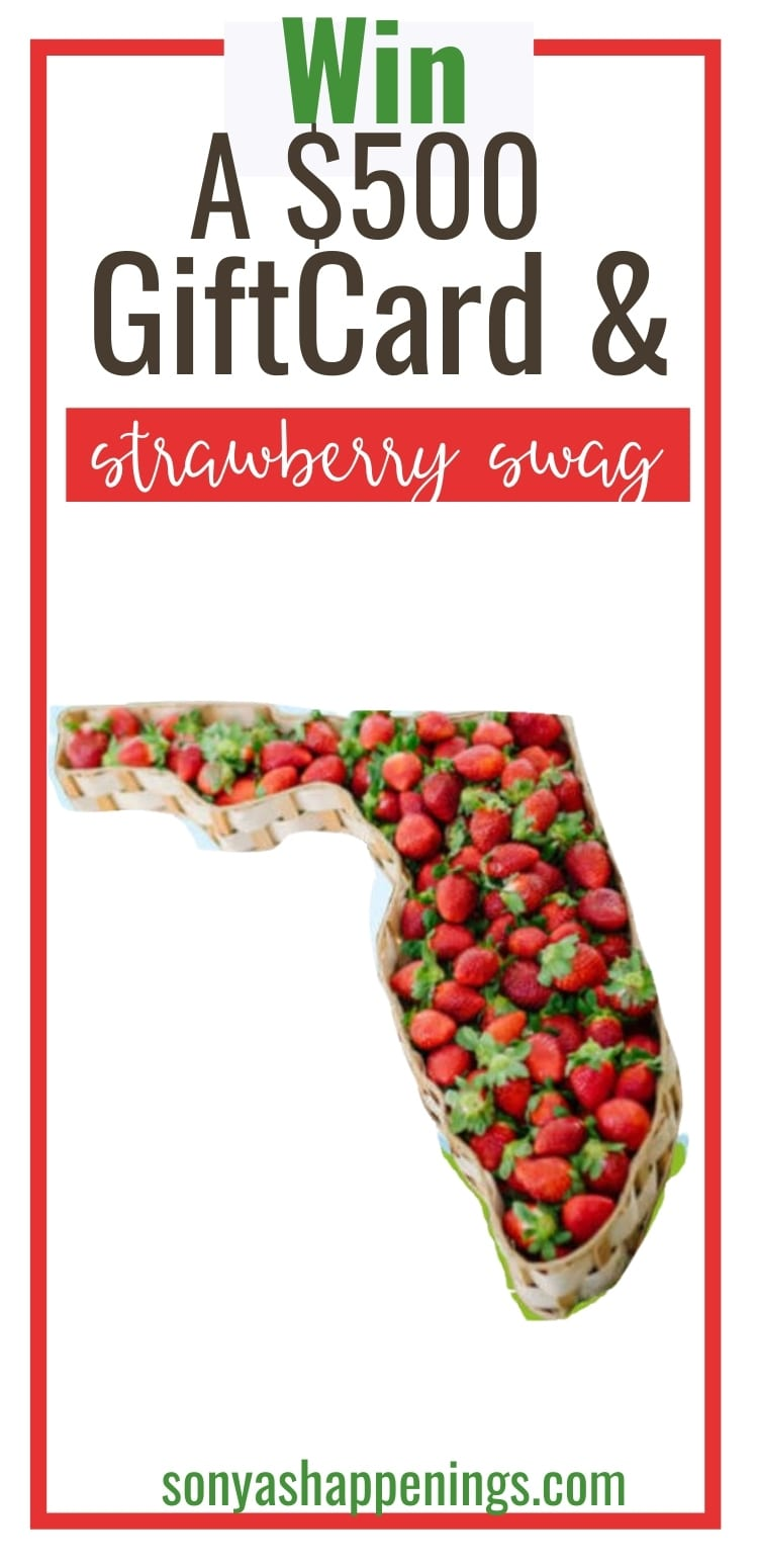 Win a $500 giftcard and strawberry swag ~ sweeps ends 1-31