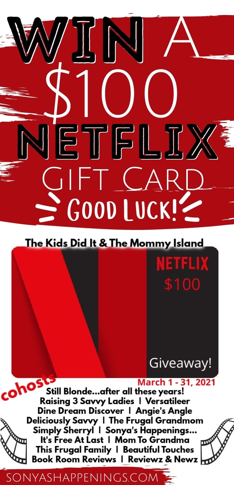 Win a $100 Netflix giftcard ~ giveaway ends 3-31