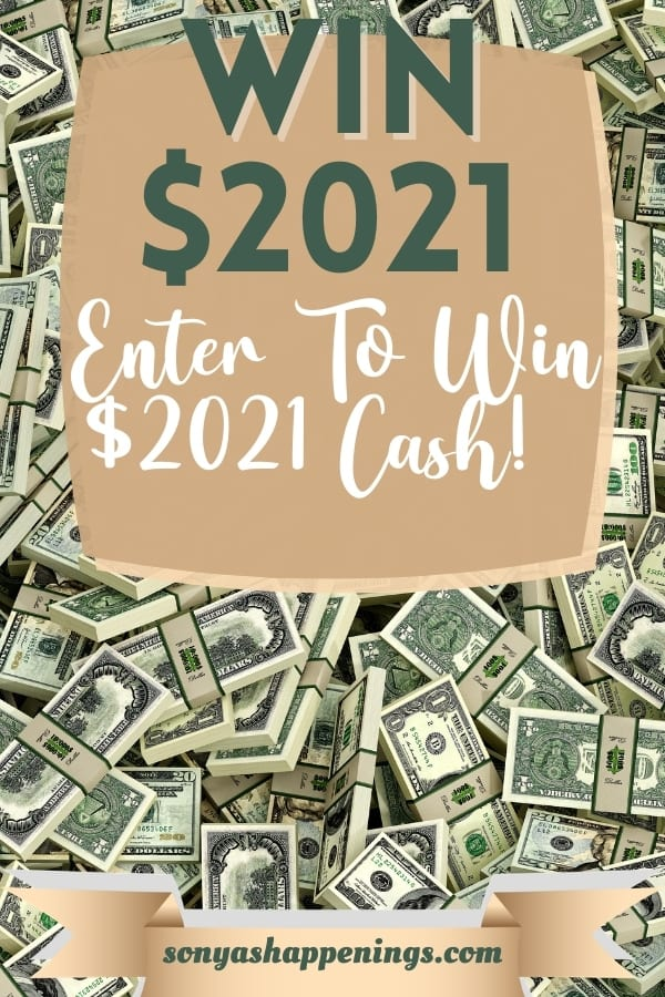 Win $2,021 cash ~ sweeps ends 3-31
