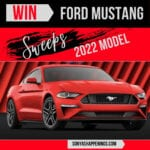 win a car, win a ford mustang