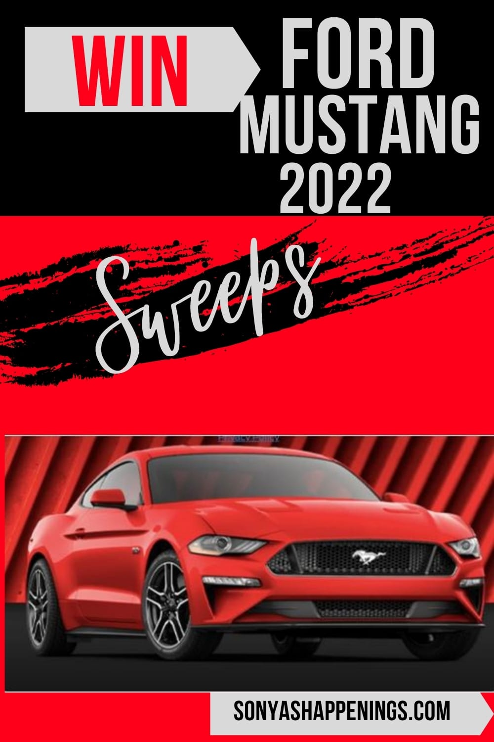 Win a 2022 Ford Mustang GT ~ Sweeps ends 12-10-21